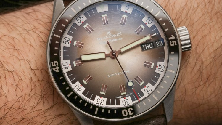 Japanese Movement Replica Blancpain Fifty Fathoms Bathyscaphe Day Date 70s Hands-On