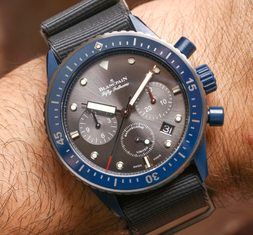 Replica For Sale Blancpain Fifty Fathoms Bathyscaphe Flyback Chronograph Ocean Commitment II Watch Hands-On
