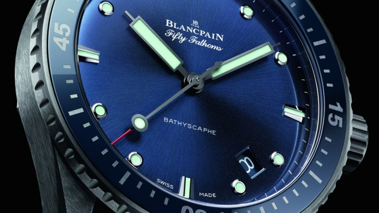Replica Buyers Guide Blancpain Fifty Fathoms Bathyscaphe Watch In Gray Plasma Ceramic