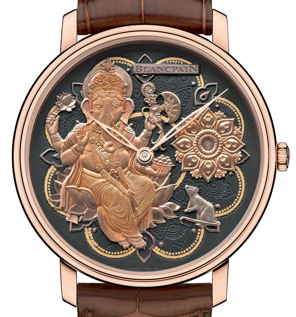 Perfect Clone Online Shopping Blancpain Villeret Métiers D'Art Ganesh Watch