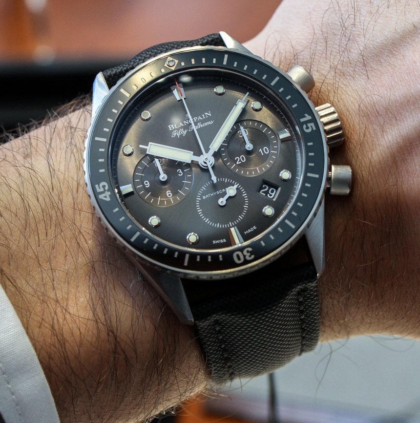 Perfect Clone Online Shopping Blancpain Fifty Fathoms Bathyscaphe Flyback Chronograph Watch Hands-On