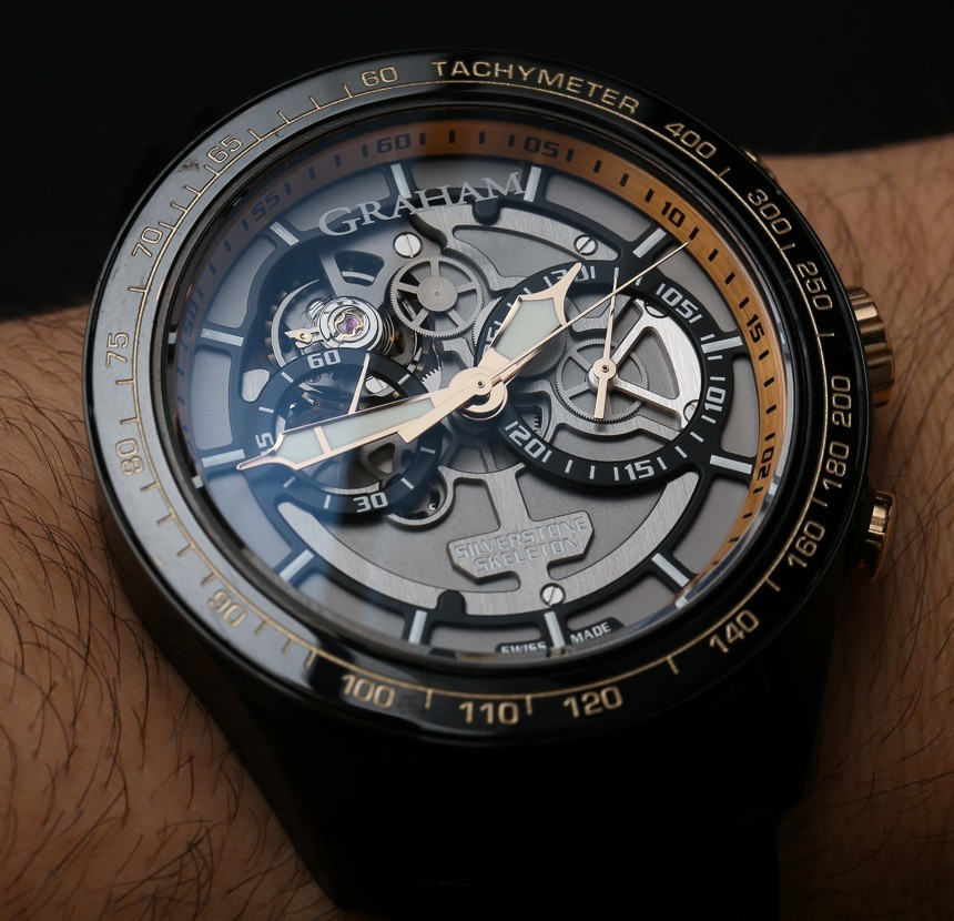 Replica At Lowest Price Graham Silverstone RS Skeleton Black & Gold Watch Hands-On